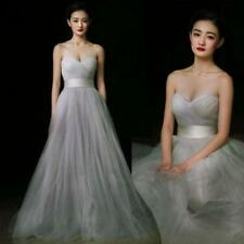 Sexy Strapless Dress Brides Gown Evening Prom Party Bridesmaids Wedding Dresses