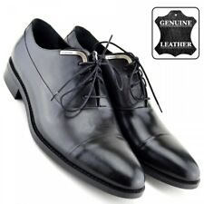 Mens New Real Leather Lace up Boys Casual Smart Work Office Formal Dress Shoes