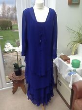 Cattiva New York Wedding/Races  Blue Dress & Matching Jacket Designer Outfit 14