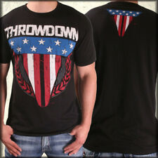Throwdown Glory American Flag Stars Stripes UFC MMA Mens T-Shirt Black NEW S-3XL
