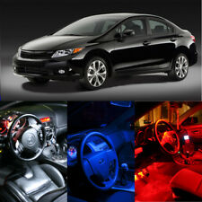 White Red Blue LED Interior Package Deal Dome Map lights for Honda