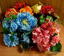 NWT Silk Floral Bouquet - Rose, Hydrangea, Dahlia & Peony, 4 Colors Available