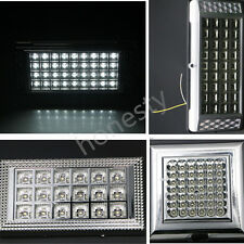 White LED Car Vehicle Dome Roof Ceiling Interior Light Lamp DC 12V Silver