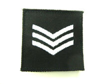 SGT SERGEANT Black Rank Police, Security,Close Protection SAS SBS Patch Badge