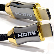 Braided Ultra HD HDMI Cable v2.0 High Speed + Ethernet HDTV 2160p 4K 3D GOLD