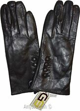 Woman's Gloves Leather Gloves Hand Warmer, Black Winter Ladies' Dress Gloves NWT