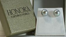 Honora 8.5MM NIB Pearl Earrings Cultured Freshwater Button Sterling 3 colors