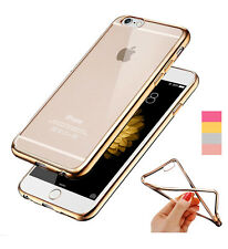 Plating Electroplating Clear Crystal TPU Soft Phone Case cover for i phone 6 6G