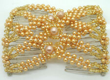 Beaded Ez Combs Double Stretch Combs Pearl Hair Accessory for Popular Hairstyles