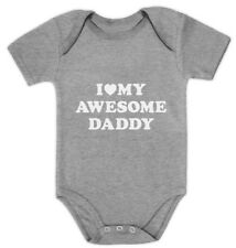 I Love My Awesome Daddy Cute Bodysuit Grow Vest Baby Gift Idea