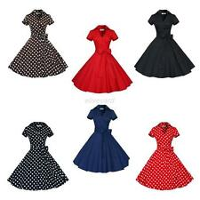 Vintage Style Women's Swing 1950s 60s Retro Pinup Rockabilly Evening Party Dress