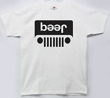Jeep Beer Funny Parody Tee Shirt Drinking Party Logo Humor Idea T-shirt Dad Gag