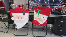 Christmas Party Dinner Chair Cover Santa Claus Snowman Cover Hotel Chair Covers