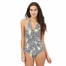 Beach Collection Womens Yellow Floral Tummy Control Swimsuit From Debenhams