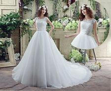 2016 White/ivory Wedding dress Bridal Gown custom size 4-6-8-10-12-14-16