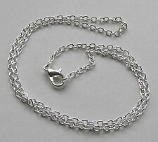 "Jewellery Design - Silver Plated Trace Chain Chains Findings 18"" PACKS 6 12 36"