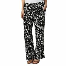 The Collection Womens Black Pebble Spot Wide Leg Trousers From Debenhams