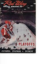 1955-56 Detroit Red Wings-Maple Leafs Playoff Program Game 1 Wings Win NICE!!