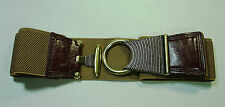 STRETCH BUCKLE BELTS/TOGGLE STYLE:FASHON DESIGN-NEWPORT NEWS:BLACK OR BROWN-NEW