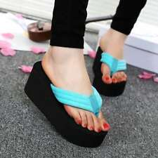 Women Beach Flip-flops Platform Slippers Fashion Wegde Antiskid Sandals Shoes