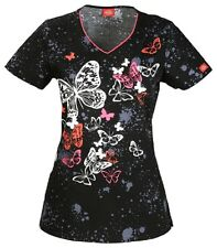Dickies Xtreme Stretch Print Top Just Flutter On By DK706X4 JUFB FREE SHIP!