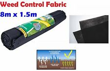 Rolls 8M x 1.5M Weed Control Fabric Paving Decking Landscape Membrane Sheet