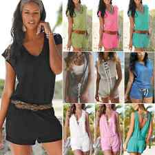 New Sexy Womens Ladies Casual Sleeveless Short Trousers Jumpsuit Romper Playsuit