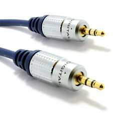 Pure HQ OFC Shielded 3.5mm Stereo Jack to Jack Cable Gold Plated