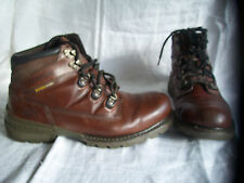 Mens CAT Chestnut Coloured Leather Lace Up Walking Boots  UK 9  (43)