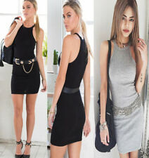 Sexy Womens Summer  sleeveless Bodycon  Evening Party Cocktail Ladies Mini Dress