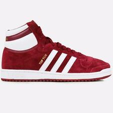 ADIDAS ORIGINALS TOP TEN HI SUEDE PACK F37591 COLLEGIATE BURGUNDY/WHITE/GOLD