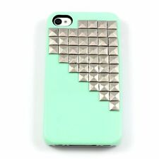 Mint Green Pyramid Silver Studs Hard Case for Apple iPhone SE / 5 / 5S