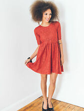 Ash & Rose Cotton Lace Young Love Dress fit and flare purple red Mata Traders