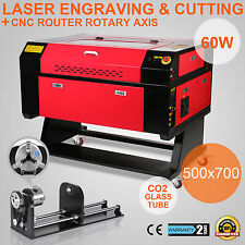 60W LASER ENGRAVER ROTARY AXIS AIR ASSIST DSP CONTROL CARVING GREAT SPECIAL BUY