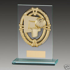 Maverick Glass Basketball Trophy in 4 Sizes Free Engraving up to 30 Letters