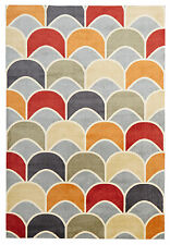 NEW Awesome Fish Scale Design Rug Blue Red Floor Pattern Rug Carpet