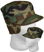 Tactical Military Hunting Airsoft Cold Hot Weather BDU Woodland Patrol Cap USED
