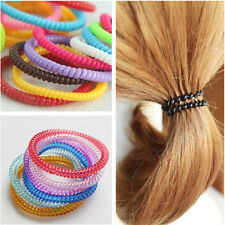 New Women Girls Thin Rubber Telephone Wire Ponytail Holders Hair Ties Ropes 30x