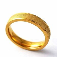 Vintage Womens Mens Yellow Gold Filled Scrub promise Band Rings Size 6 7 8 9