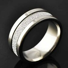 Authentic Fashion Stainless Steel Scrub Classic Mens Band Ring Size 8 90 10 11