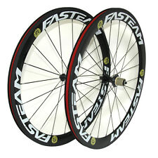 50mm Clincher Carbon road bicycle Wheels Carbon bike Wheelset 700C FASTEAM R13