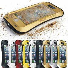 Armor Heavy Duty Aluminum Metal Bumper Gorilla Glass Case Cover For Apple iPhone
