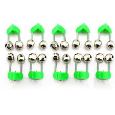 Hot 5/10X Rod Clamp Sea Fishing Accessories Tip Bite Lure Alarm Twin Bell Rings