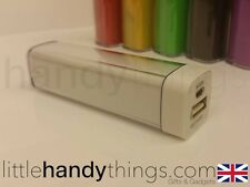 iPhone/Samsung Portable Mobile White Lipstick Power Bank/Travel Charger 2600mah