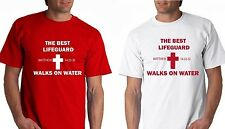 THE BEST LIFEGUARD SHIRT WALKS ON WATER TShirt JESUS CHRIST NEW CHRISTIAN front