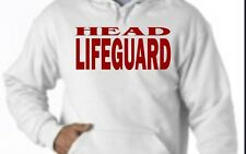 "LIFEGUARD ""HEAD"" HOODIE HOODY NEW JACKET SWEATSHIRT LIFE GUARD SHIRT WHITE Frt"