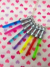 Star Wars Light Saber Necklace- Choose Your Colour...Handmade using LEGO® parts