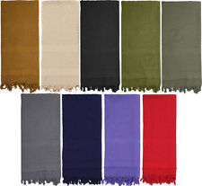 Rothco 8637 Solid Color Shemagh Heavyweight Arab Tactical Desert Scarf  Cotton