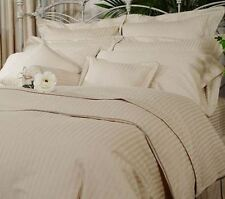 USA 1000TC 100% EGYPTIAN COTTON BEIGE STRIPE BEDDING ITEMS CHOOSE SIZE & BEDDING