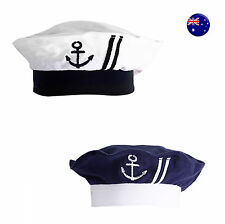 Kids Girl Boy Baby Navy Or White Sailor anchor marine Costume Party Hat Cap prop